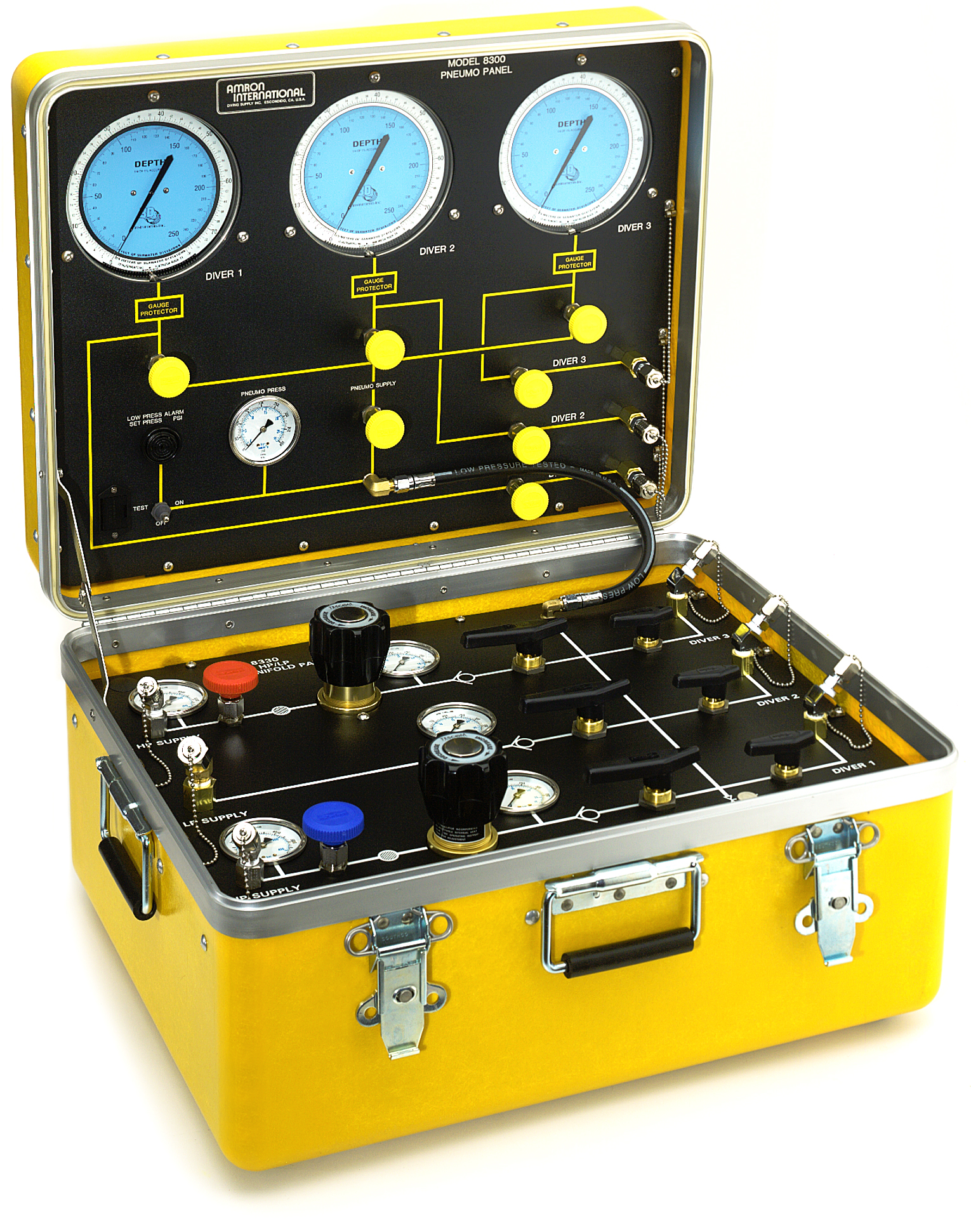 3-Diver Air Control and Depth Monitoring System