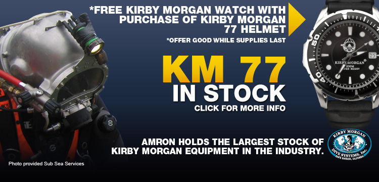 Kirby Morgan 77 Commercial Diving Helmet