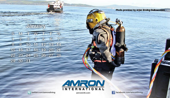 Amron Diving Calendar January