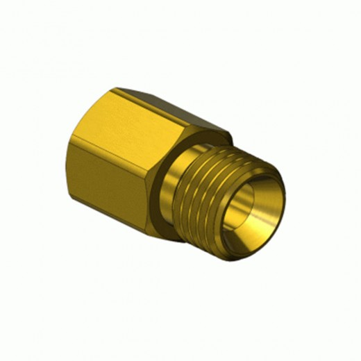 GF-0238 CGA Adapter - 1/8 in. FNPT to 9/16-28 R.H. Male Oxygen