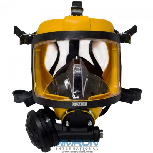 Divator MK II Full Face Mask with Positive Pressure Regulator - Silicone - Yellow