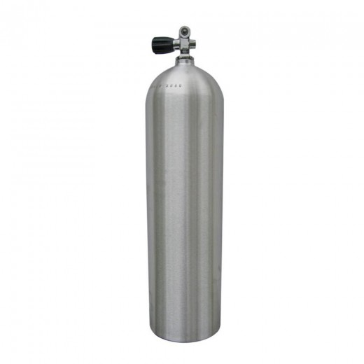 Aluminum Scuba Tank with Valve Neutral 80 Cubic ft