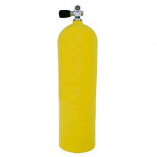 AL100 Aluminum SCUBA Cylinder with Pro Valve - Yellow