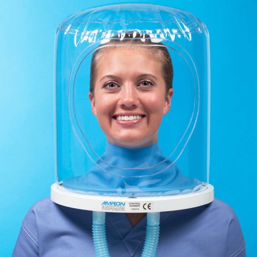 8891-02 Oxygen Treatment Hood Assembly with Untrimmed Latex Neck Seal, Neck Ring with O-ring, and Multipurpose Plug