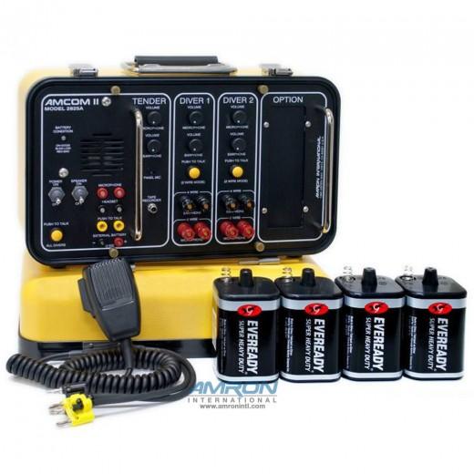 Amcom ™ II 2-Diver Deluxe Portable Non-Rechargeable Communicator