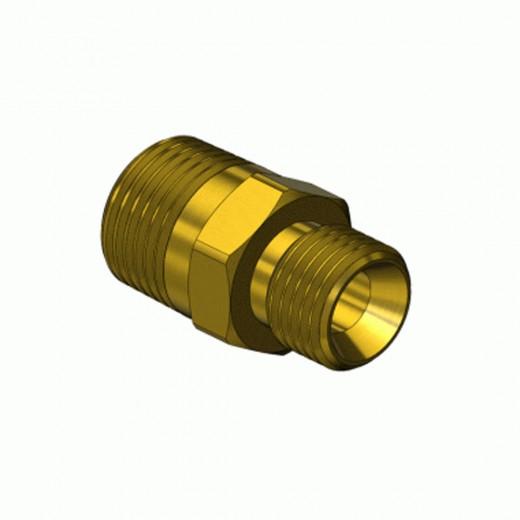 AF-1050 Male to Male Oxygen - 9/16-18RH to 3/8 in. MNPT Brass