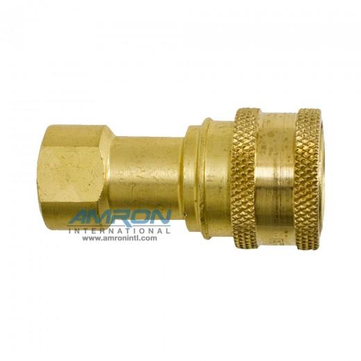 B2-H16-SL - 2-HK SRS Socket 2-Way 1/4 in. FNPT in Brass with Sleeve Lock Device