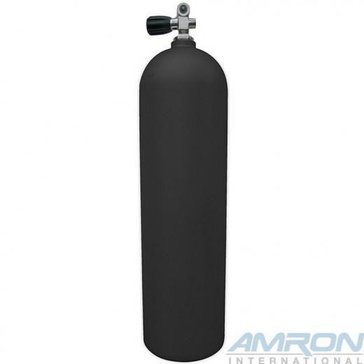 Aluminum Dive Tank - Black with K-Valve - 80 cu ft.