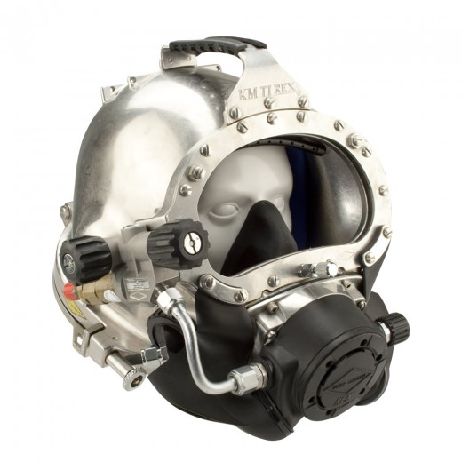 KM 77 Commercial Diving Helmet with Male Waterproof Connector