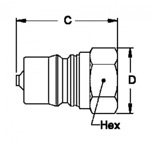 B3-K21 - 3-HK 3/8 in. FNPT Plug in Brass