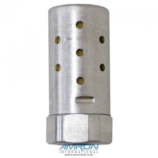 Heavy Duty Silencer - NPT Port 1/4 Flow 2.4 Hex 13/16 Len 1.78 MA002A