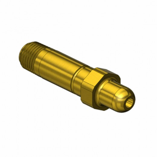 GF-3102 CGA Nipple - 1/4 NPT 2-1/2 in. long - Brass
