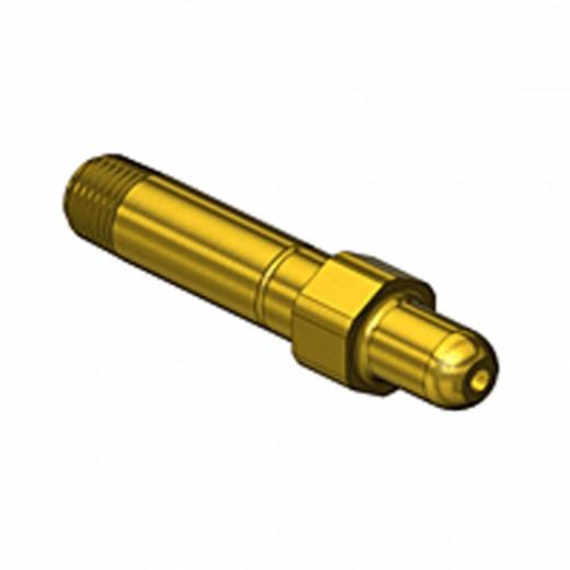GF-3122 CGA Nipple - 1/4 NPT 3 in. long - Brass