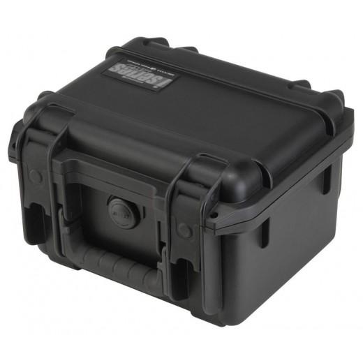 3I-0907-6B-C MIL-STD Waterproof Case - 6 in. Deep - Cubed Foam - Black