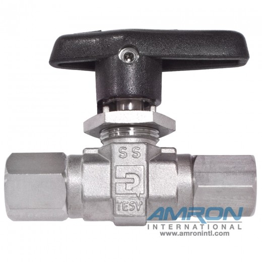 B-Series Ball Valve - 1/4 inch Female NPT PCTFE Seat - Stainless Steel