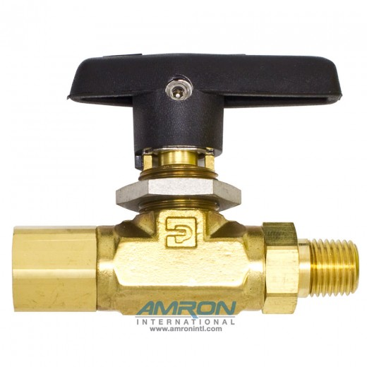 4M4F-B6LJ-BP B-Series Ball Valve - 1/4 in. MNPT x 1/4 FNPT PTFE Seat - Brass