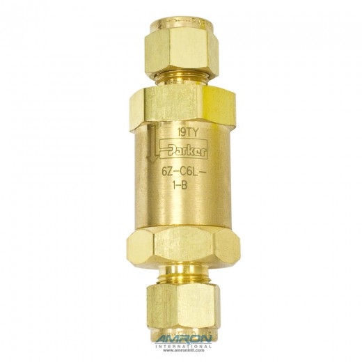 C-Series Check Valve 1  PSI Cracking 3/8 inch Tube - Brass