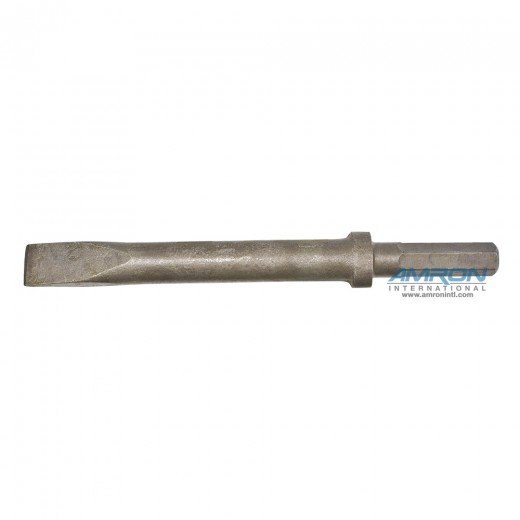 66257 CH15 Hydraulic Chipping Hammer Bit - 0.580 Hex Shank Steel Narrow Chisel