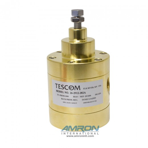 26-2912-282A Back Pressure Regulator Brass 0-30 PSIG