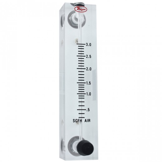 VFB-65-SSV - Visi-Float Flowmeter - 4 in. Scale - LPM Air - .2-4 Range - Stainless Steel Metering Valve and Connections