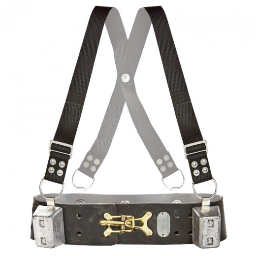 Weight Belt Adjustable Shoulder Straps with (4) 8lb. Weights