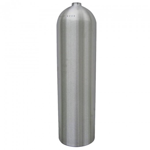 AL80 Aluminum SCUBA Cylinder with No Valve - Brushed No Coat
