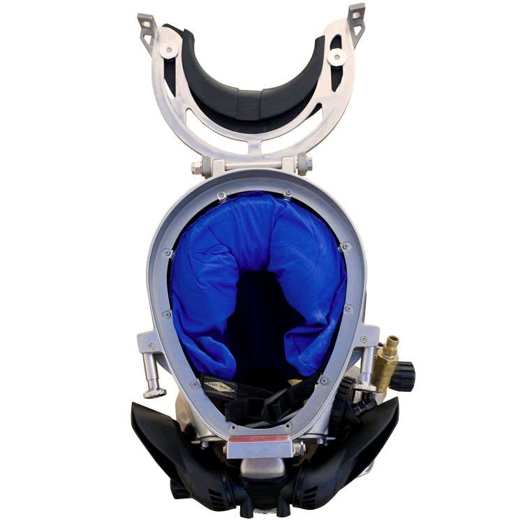 Kirby Morgan 37SS Stainless Steel Commercial Diving Helmet - Inside