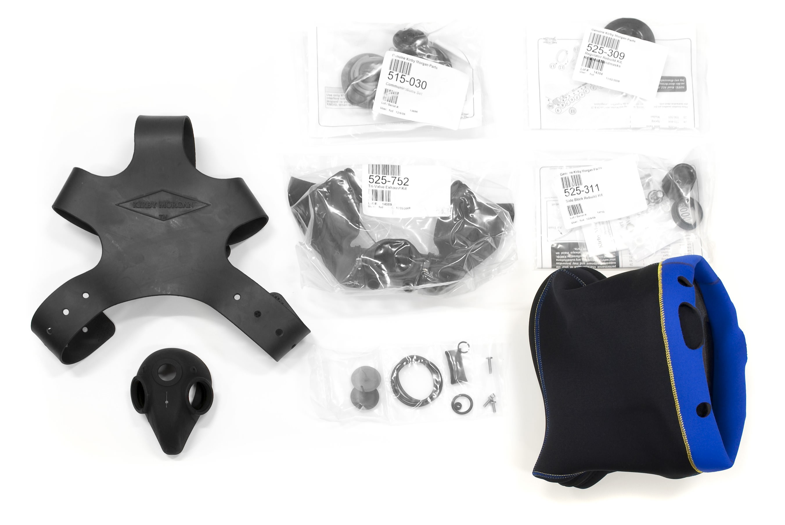 Kirby Morgan Mask Spares Kit for KMB 18 and 28 BandMasks® 525-319