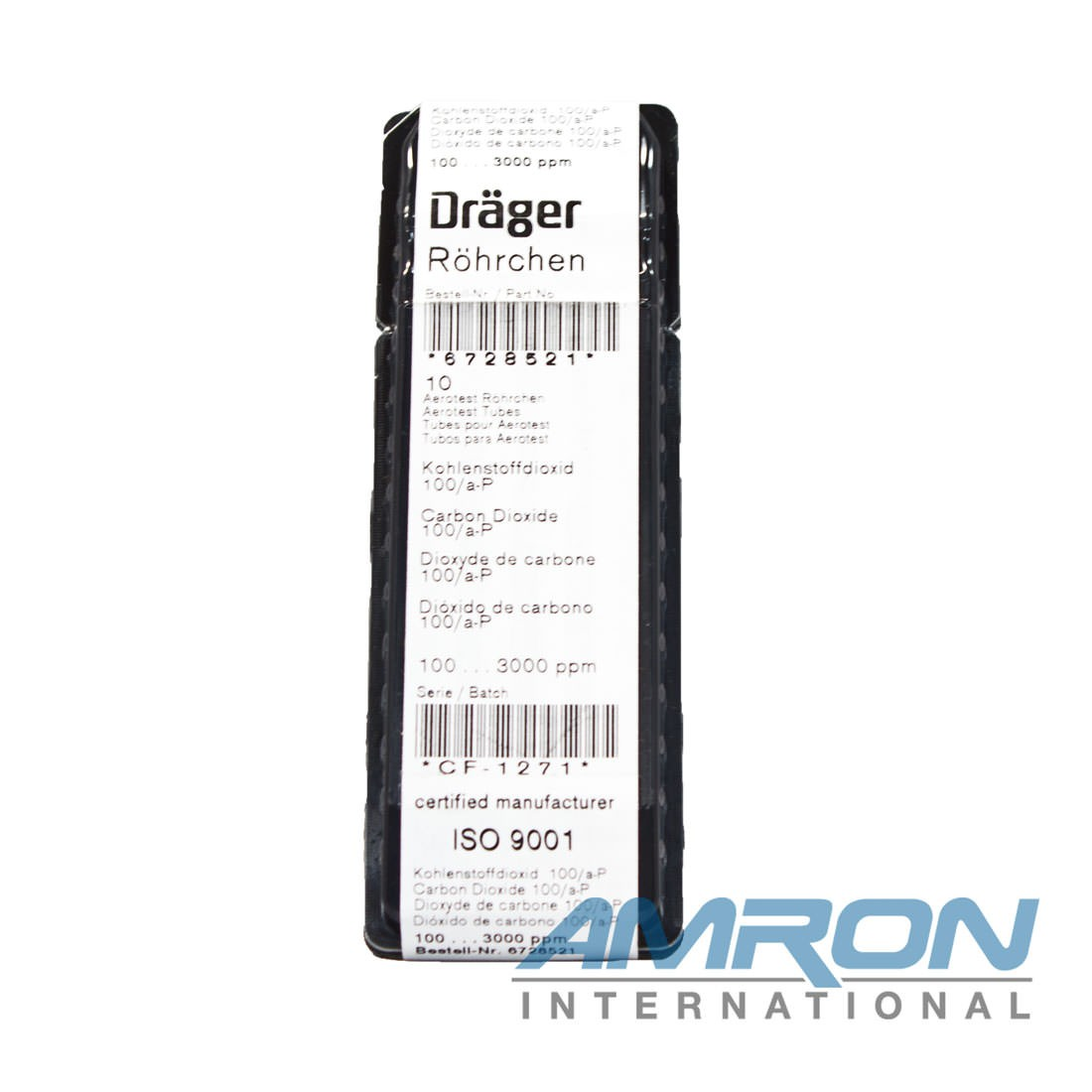 Draeger Detector Tube CO2 - 100/A-P 100-3000PPM 6728521