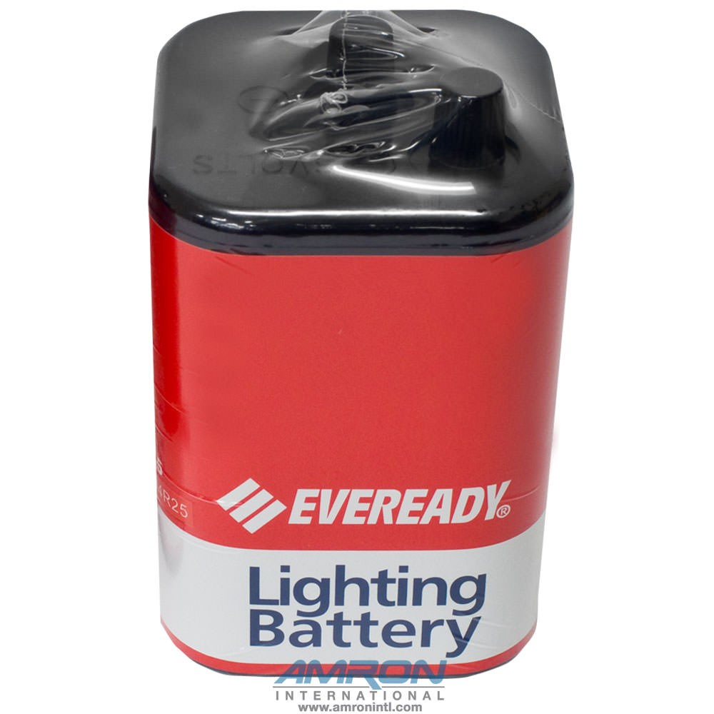 Amron 2890-01 6-Volt Non-Rechargeable Screw Top Lantern Battery