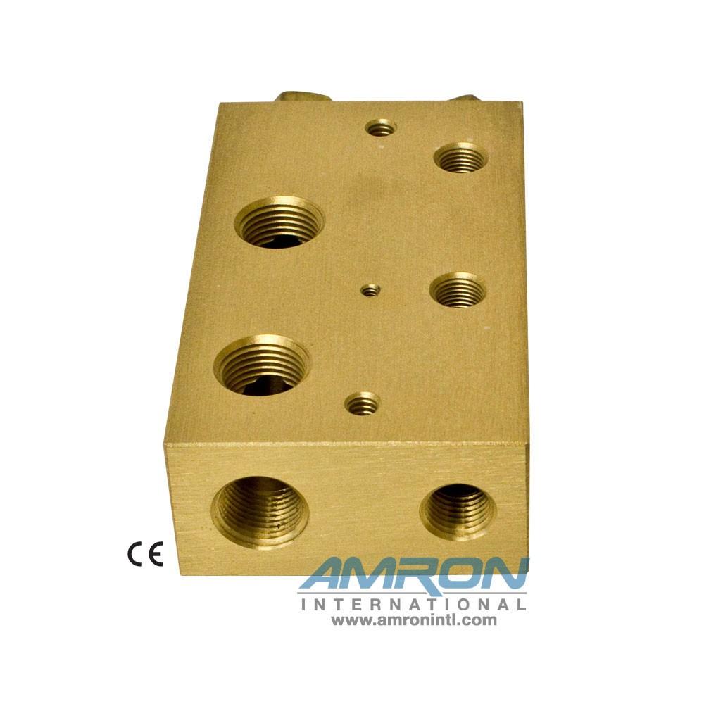 Amron International 8000-002 Chamber BIBS Manifold Block with 2 Ports