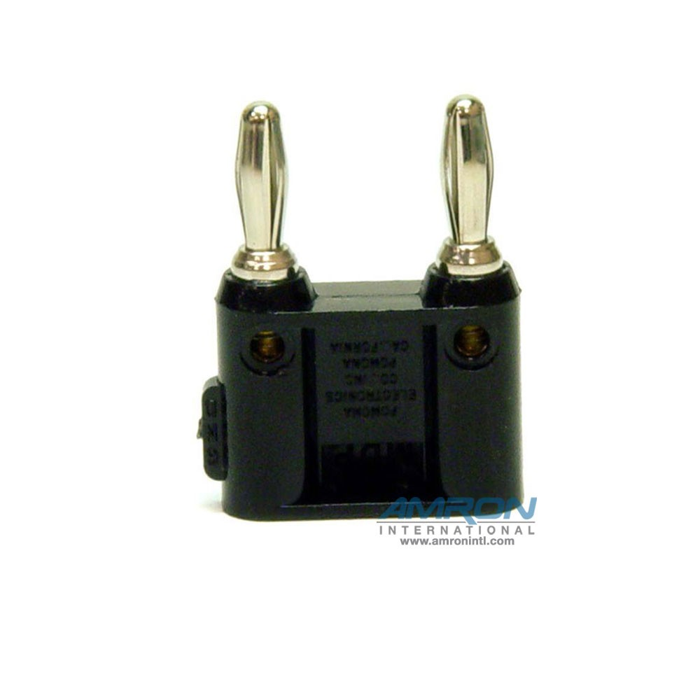 Amron International 14001B Dual-Pin Banana Plug - Black