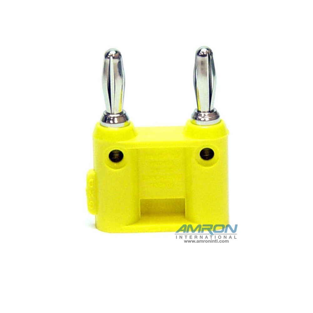 Amron International 14001Y Dual-Pin Banana Plug - Yellow