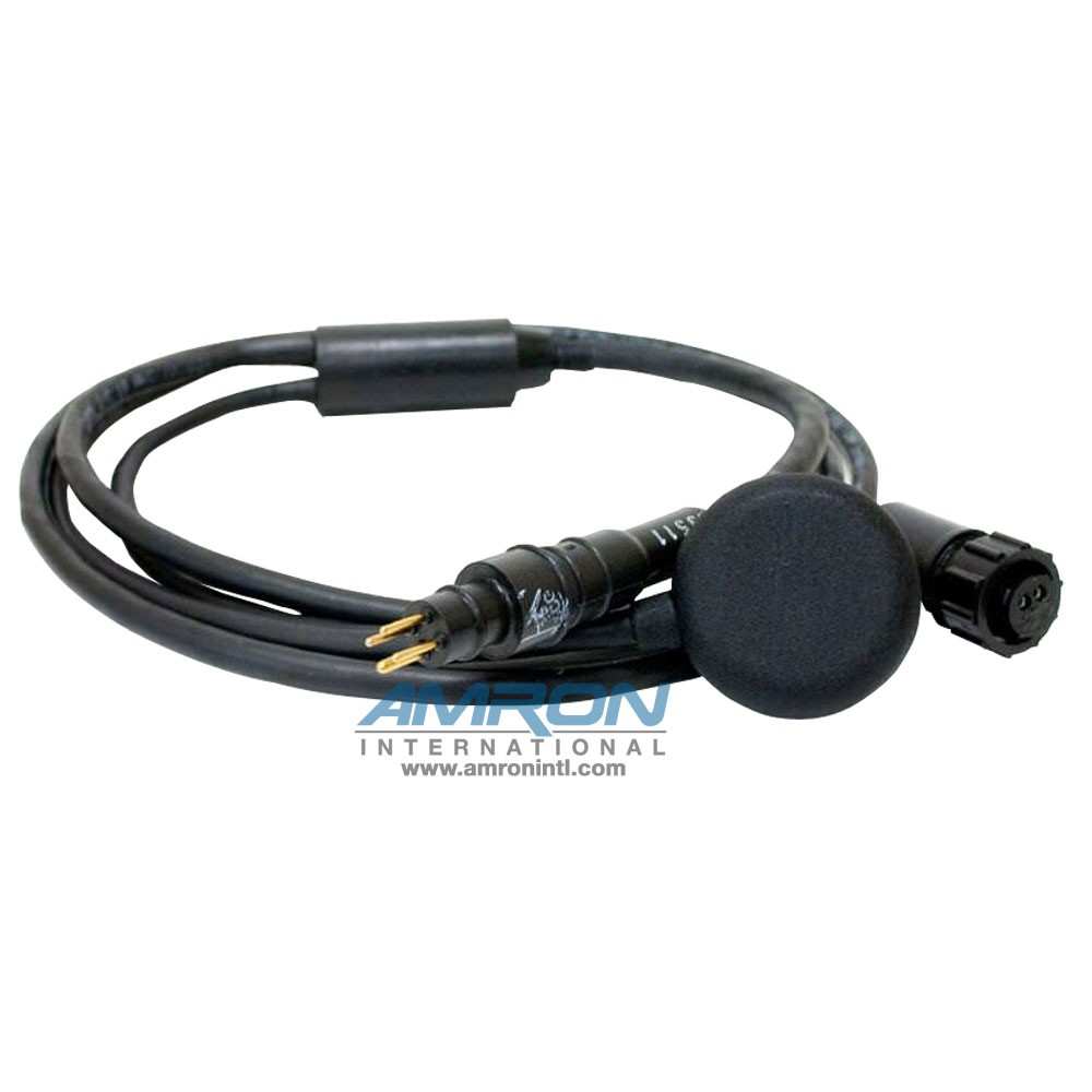 Amron International BP-44MM MK20 Earphone Assembly with RMG-4-MP Male Waterproof Marsh Marine Connector