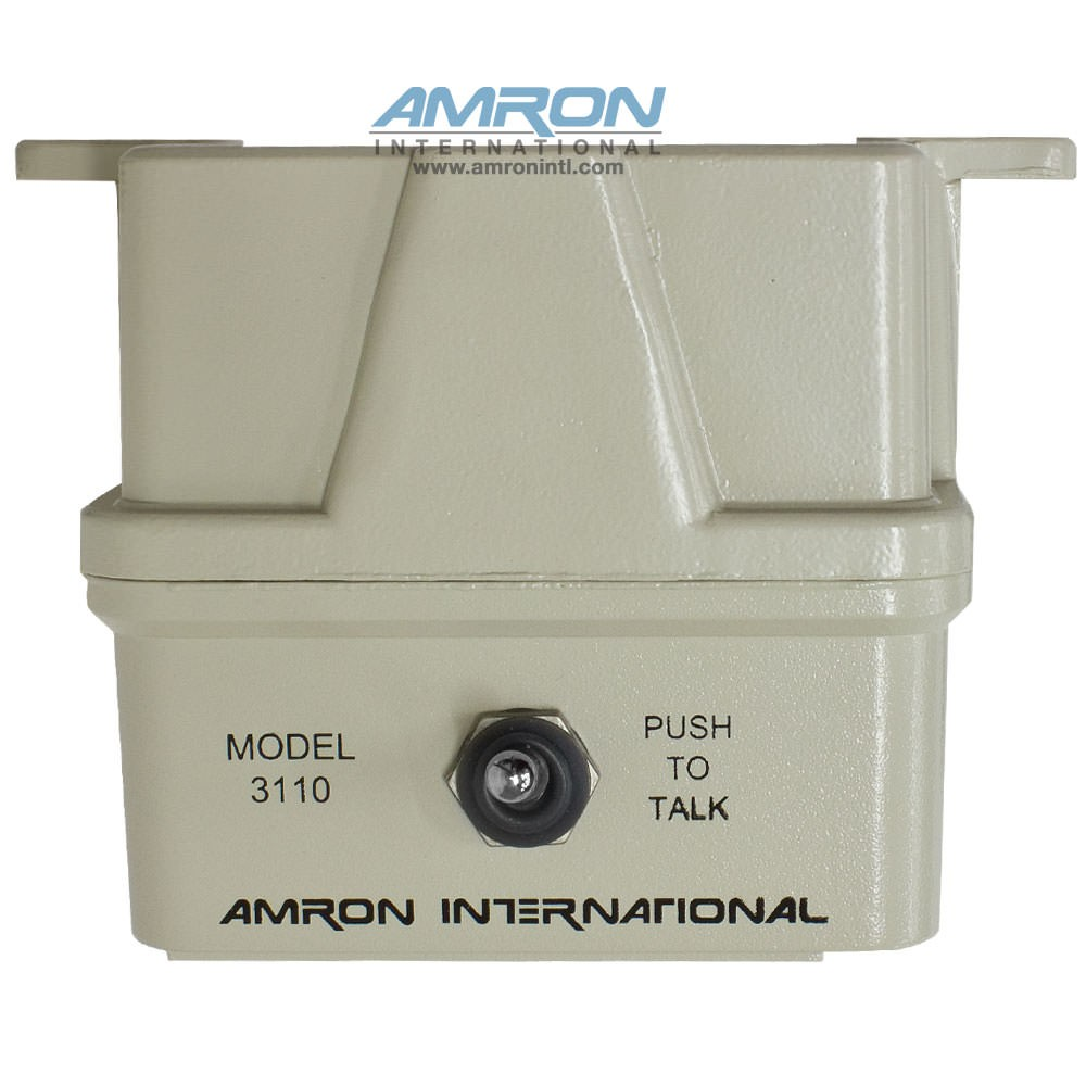 Amron Model 3110 Remote Two-Way Speaker with Push-to-Talk Switch - Top