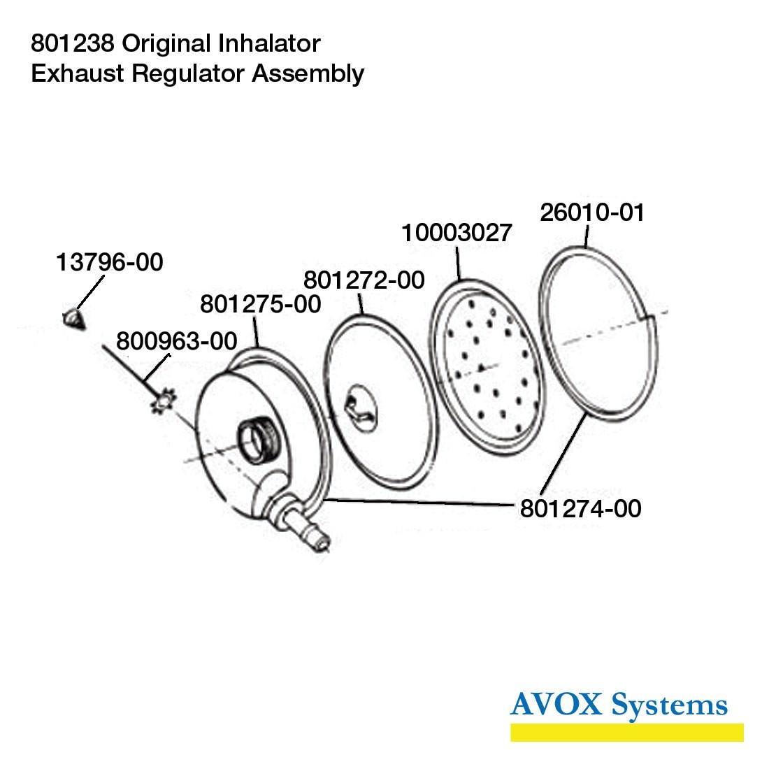 801238 Exhaust Regulator - Spares