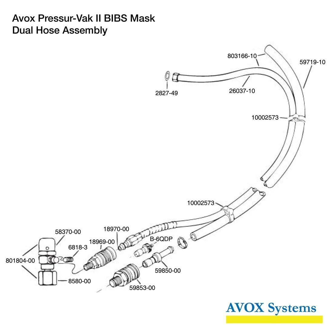 Pressur-Vak II Hose Assembly - Spares