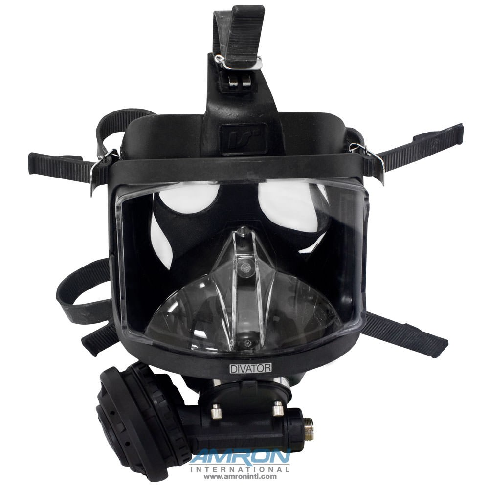 Interspiro AGA Divator MK II Full Face Mask with Positive Pressure Regulator - Silicone - Black - 96319-06