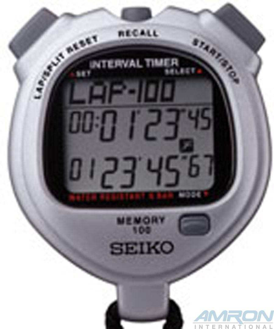 Seiko S057 Multi Function Stopwatch Grey S057-4000