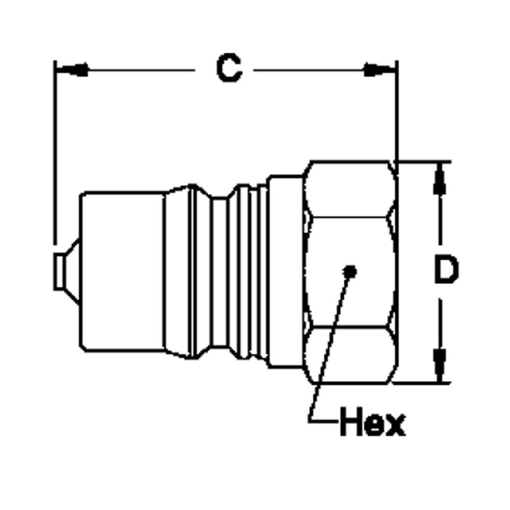 Hansen ML2-K16 - 2-HK 1/4 in. FNPT Plug in Stainless Steel (316)