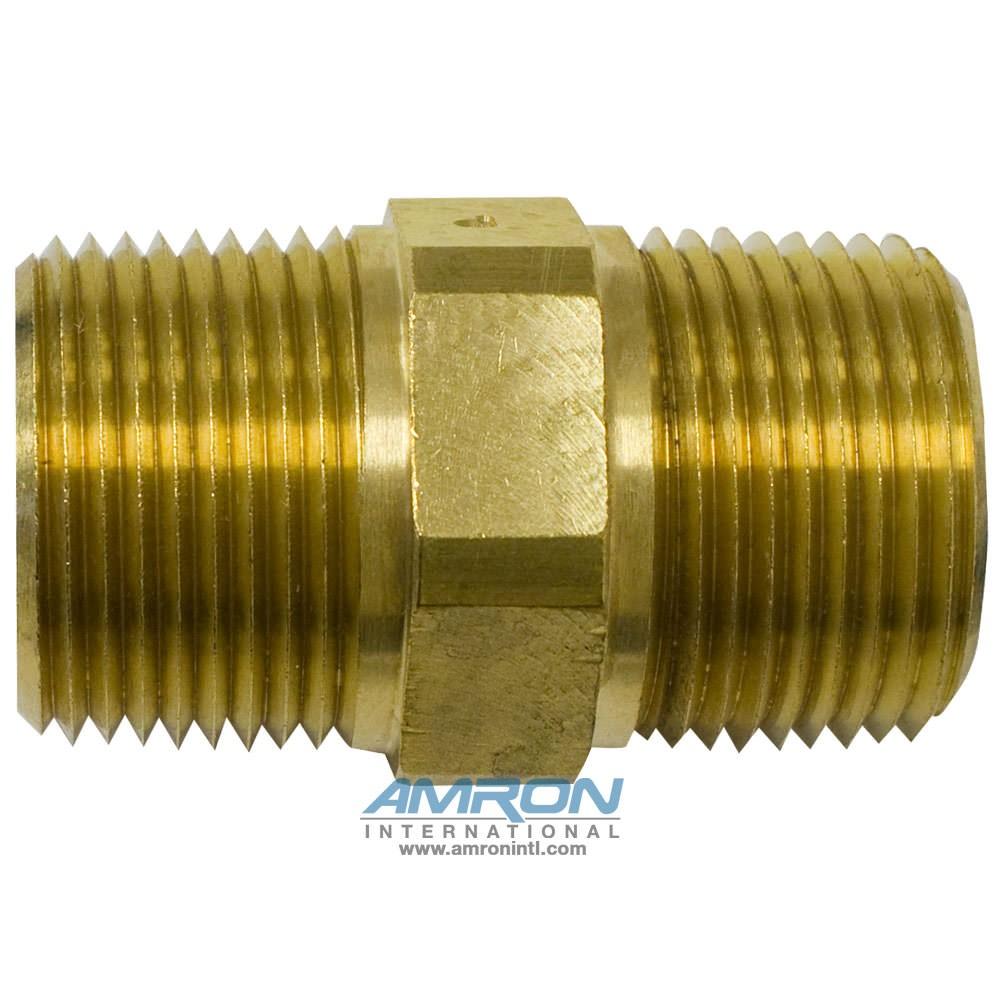 Parker FF Pipe Nipple Brass 1 inch - FF-B-1