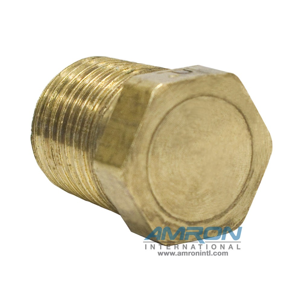 Parker HP Hex Head Plug 3/8 inch NPT - Brass HP-B-3/8