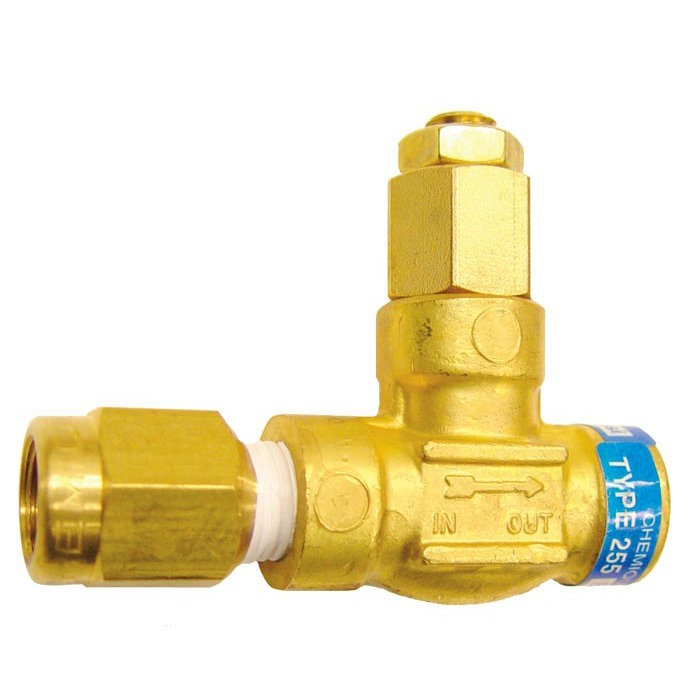 Chemiquip Model PLV-255 Pressure Limiting Valve - Brass 1/4 in. NPT Connections 30-150 psi