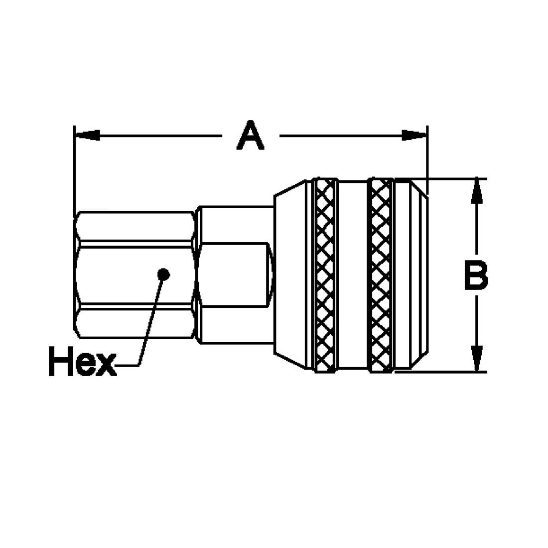 Hansen Series 3000 Female NPT End Connection Sockets