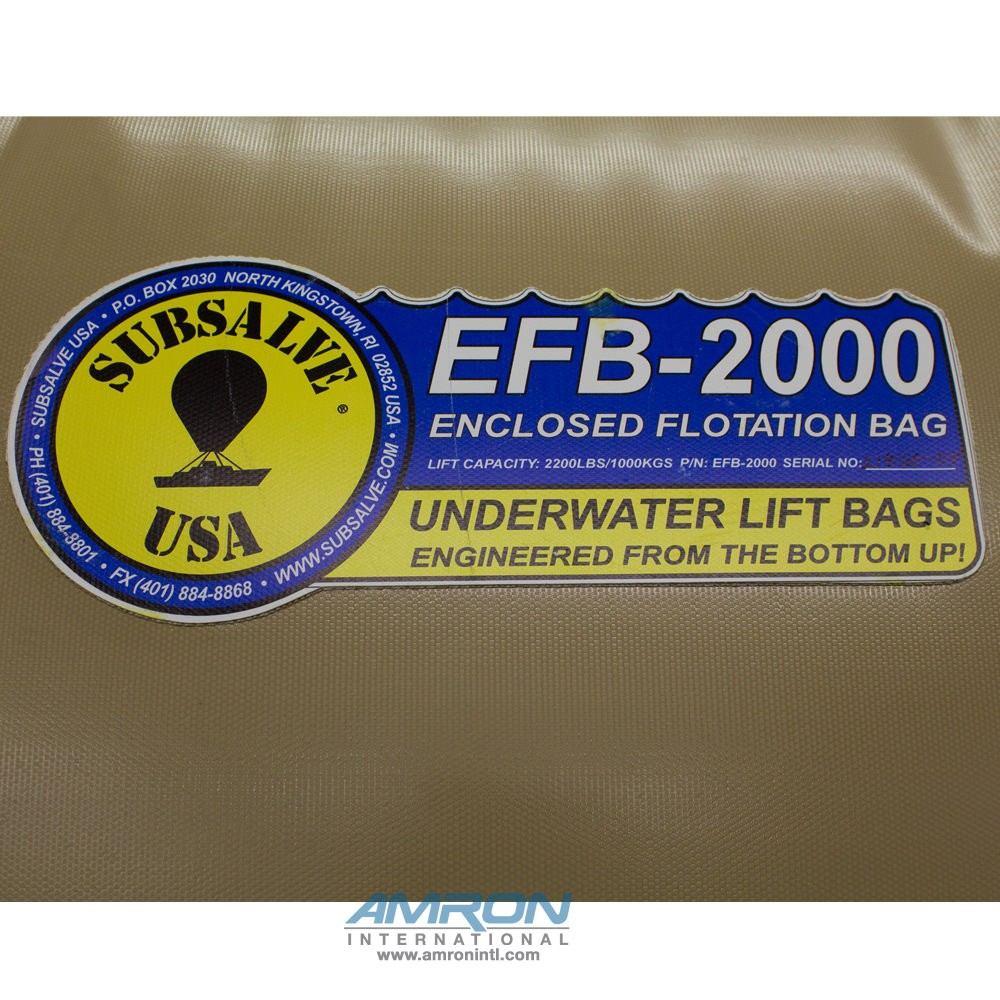 Subsalve Enclosed Flotation Commercial Lift Bag 2200 lbs Lift Capacity EFB-2000