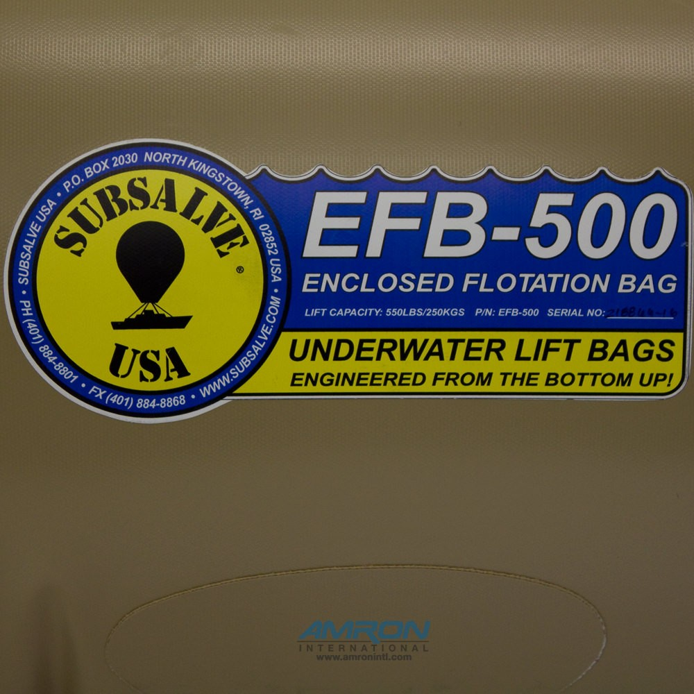 Subsalve Enclosed Flotation Commercial Lift Bag 550 lbs Lift Capacity EFB-500