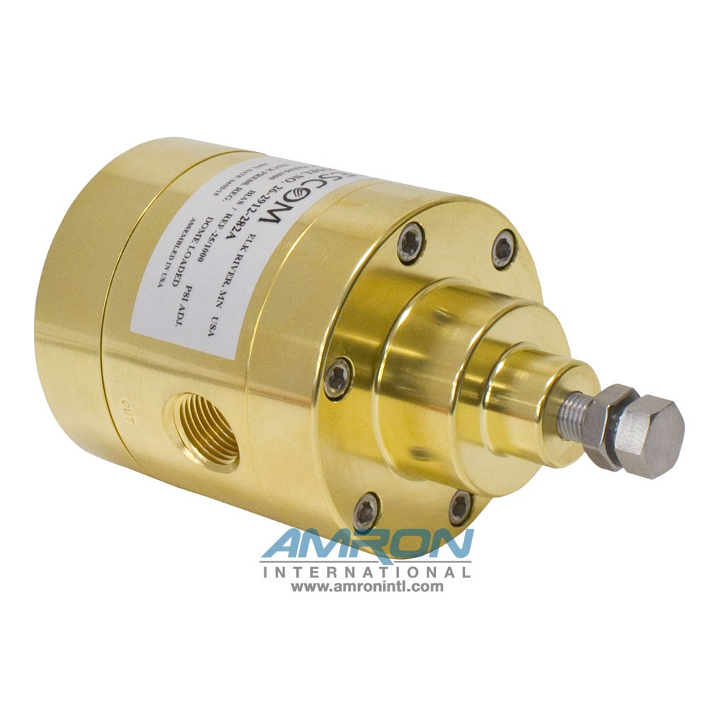 TESCOM Back Pressure Regulator Brass 26-2912-282A