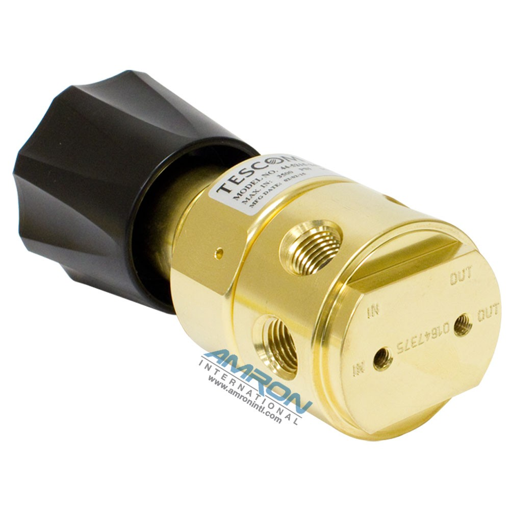 TESCOM Pressure Reducing Regulator Brass 5-500 PSIG Venting 44-5215-243V