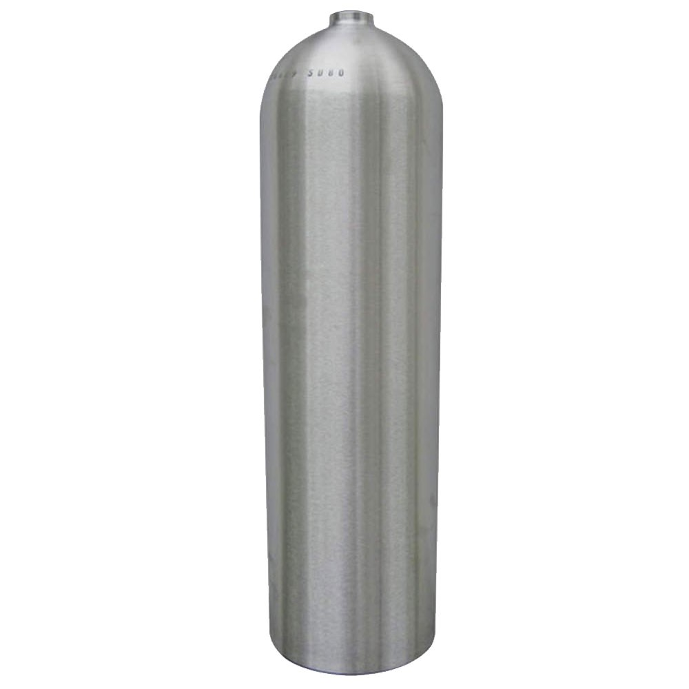 Worthington AL80 Aluminum SCUBA Cylinder with No Valve - Brushed No Coat AL80BNC-NV