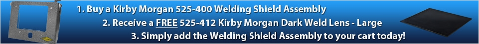 Kirby Morgan 525-400 Welding Shield Assembly Promo